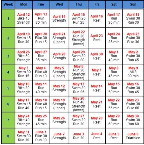 Top Result 60 Inspirational Triathlon Training Calendar Template