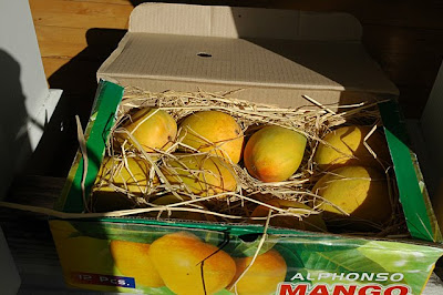 A box of alphonso mangoes