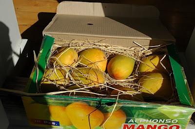 A box of alphonso mangoes
