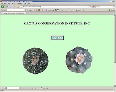The Cactus Conservation Institute homepage