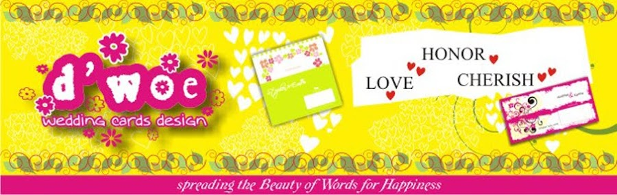 ♥d'Woe Wedding Cards Design