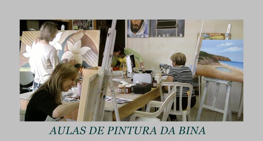 Aulas de pintura da Bina