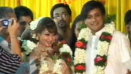 latest news shashi tharoor sunanda pushkar wedding