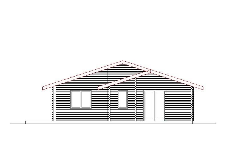 Progetti di case in legno casa 125 mq terrazza coperta for Casa in legno 25 mq