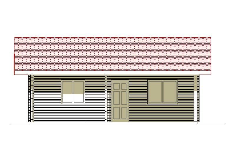 Progetti di case in legno casa 65 mq portico 11 mq for Progetti di portico anteriore