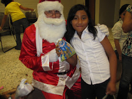Justin played Santa for the school