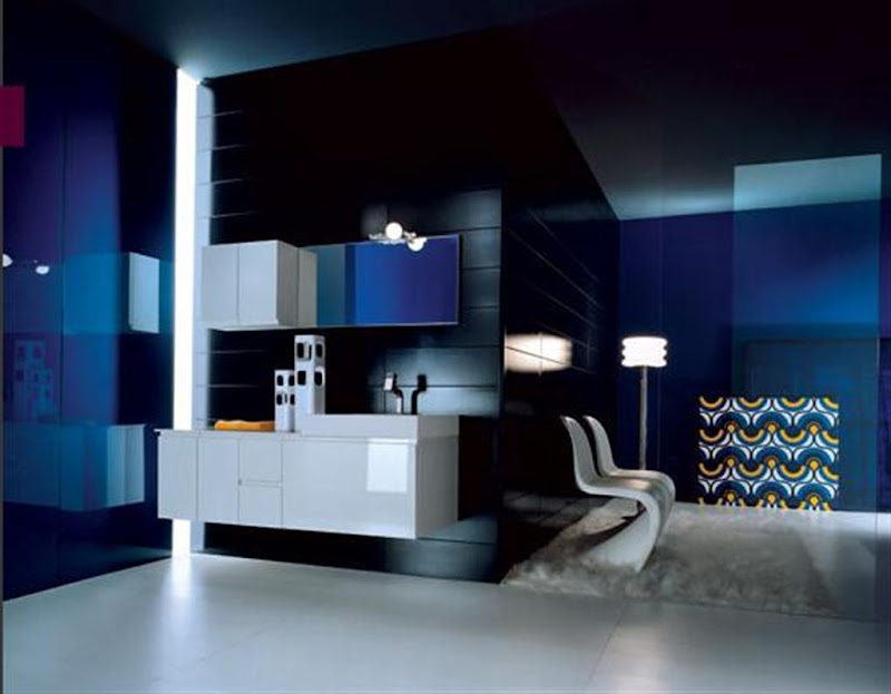 Contemporary Calipte Bathroom - Italian title=