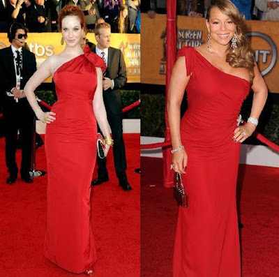 SAG Christina Hendricks and Mariah Carey