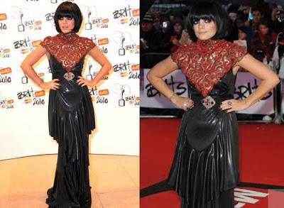 Lily Allen Brit awards