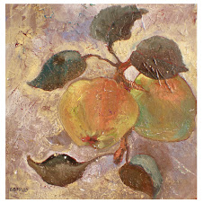 Nature morte aux pommes (30x30) - vendu