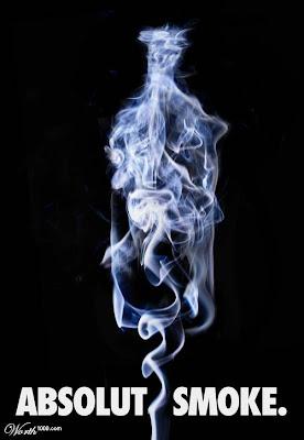 ABSOLUT SMOKE - Para quem ainda pode fumar . . .