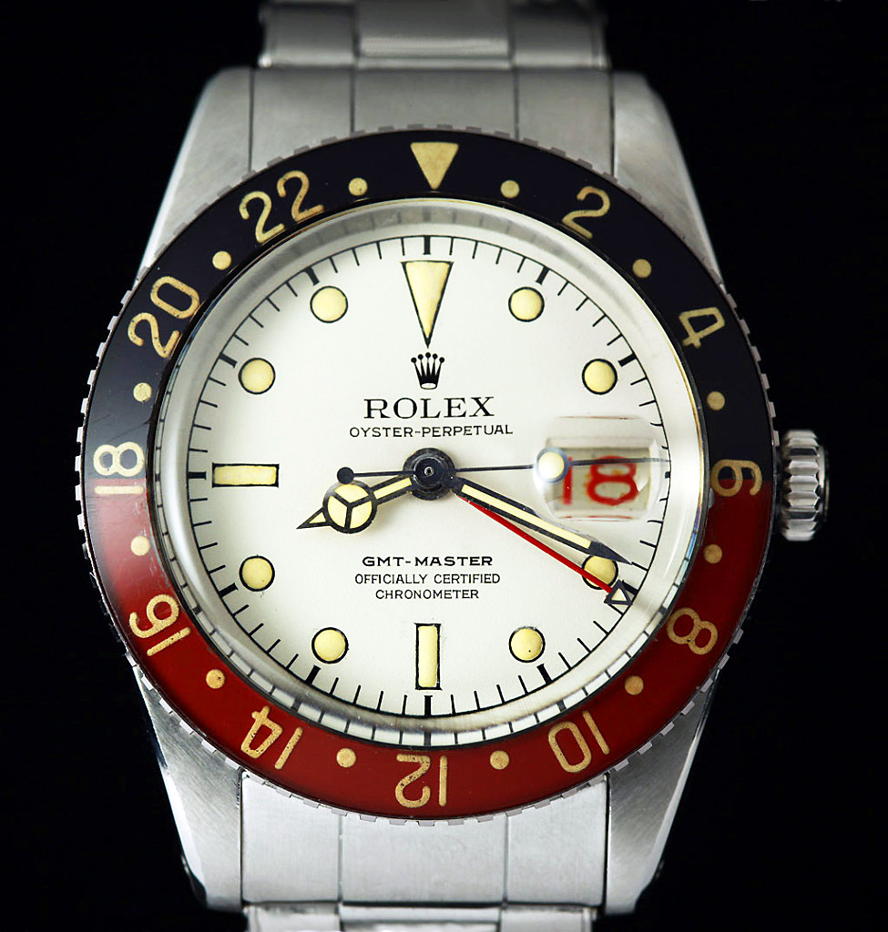 Les Rolex Albino, Mythe ? Prototype ? Pan-Am-Vanilla-Coke-Rolex-GMT-Master