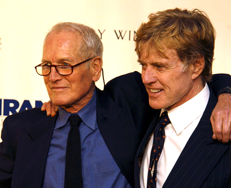 Photo of Robert Redford & his friend actor  Paul Newman - United States