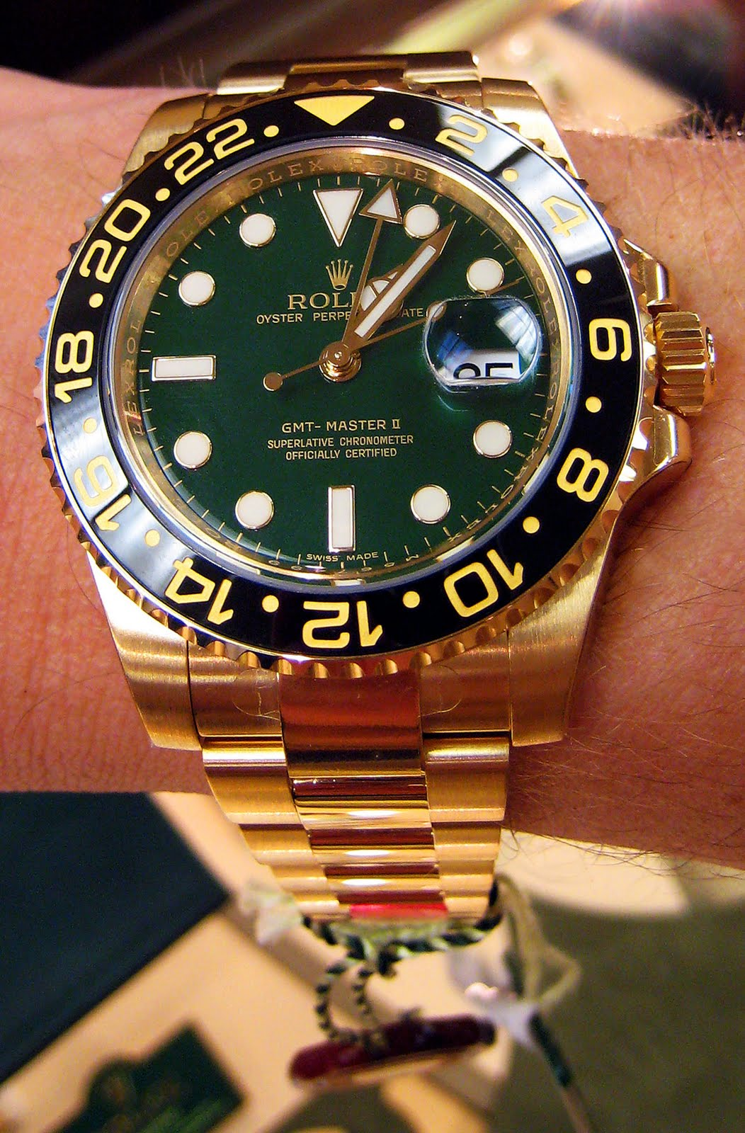 Rolex Submariner Gold Green Face