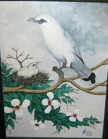 Lukisan Burung Jalak Bali