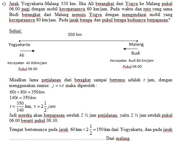 Pak Guru Awan Problem Solving Edisi Jarak Waktu Dan Kecepatan