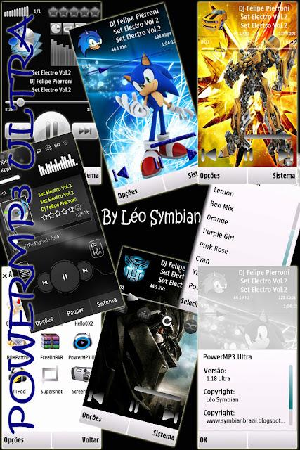 PowerMP3 v1.17 care este pe deplin compatibil cu Symbian v3, V5 și o.