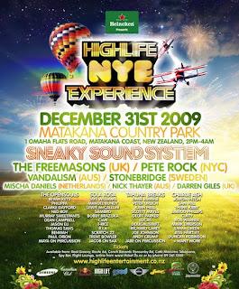 Highlife NYE Experience, Waiheke, Stonyridge