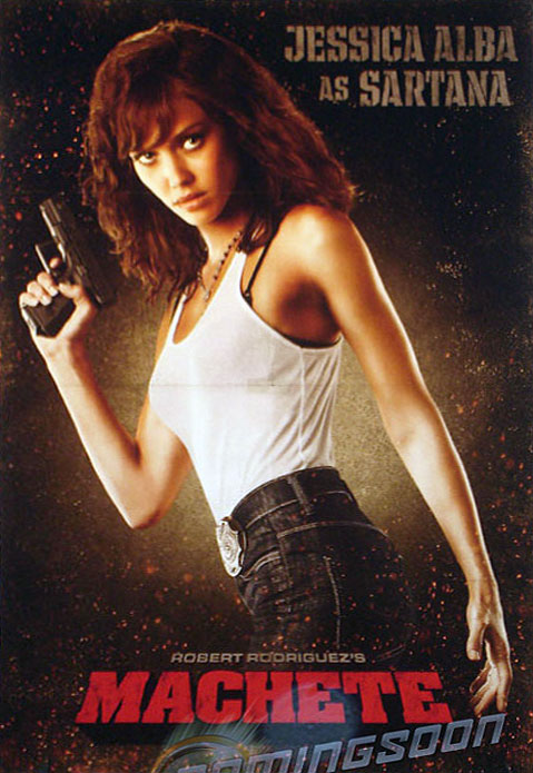 Jessica Alba, Machete filmindeki rol arkadaşı Lindsay