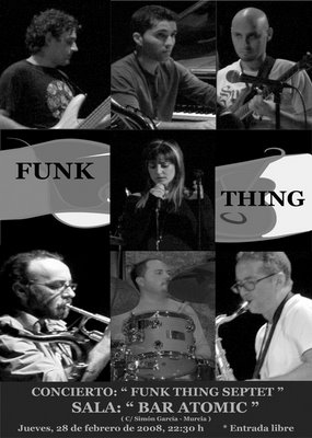 FUNK THING SEPTET EN SALA ATOMIC