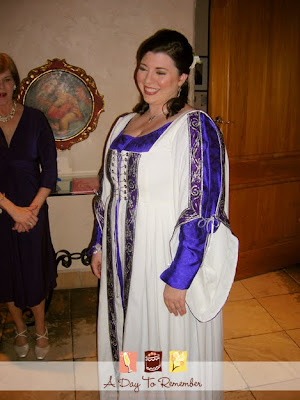 Erin in her beautiful traditional celtic wedding gown