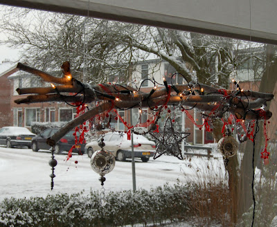 connies scraphoek raamdecoratie voor kerst