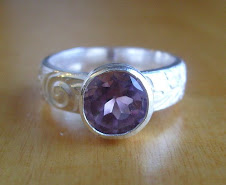 Amethyst Patterned Ring