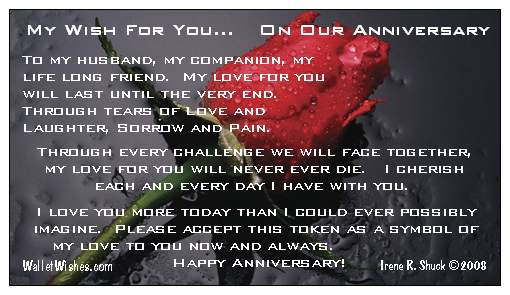 Happy Anniversary to My Husband http://rosurainisiron.blogspot.com/2010/12/happy-6th-anniversary-to-my-husband.html