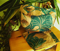 Copper & Jade Silk Handbag & Scarf