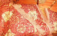 Morris Tulip &amp; Honeysuckle Cushion