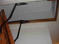 attic door cover in place