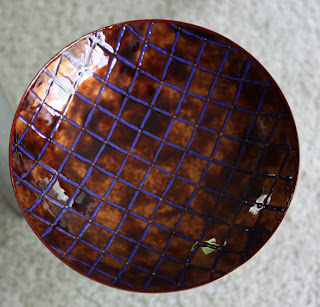 Enameled Copper Dish