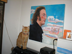 My cat TIGRIS, JOHN LENNON, and the LUCY IN THE SKY WITH DIAMONDS