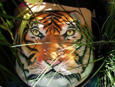 body art grávidas tigre