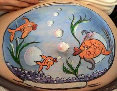 body art grávidas peixes