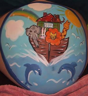 body art grávidas arca de noé