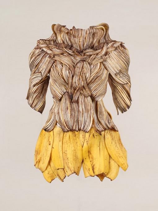 comida vestivel vestidos banana