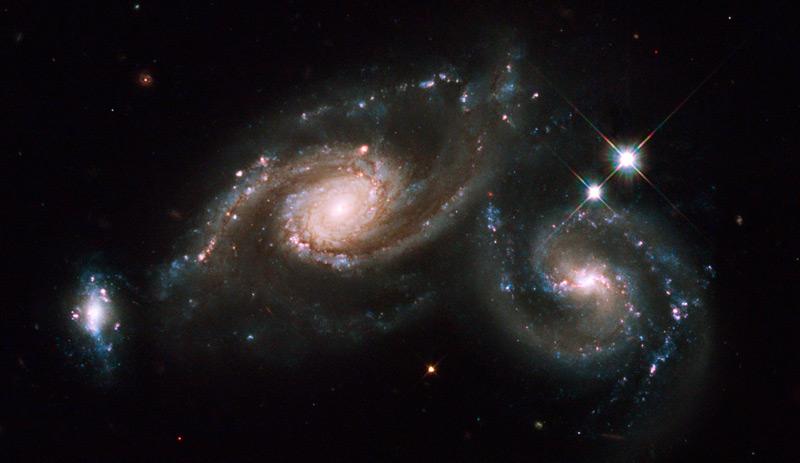Galaxy Triplet ARP 274 wallpaper 1080p