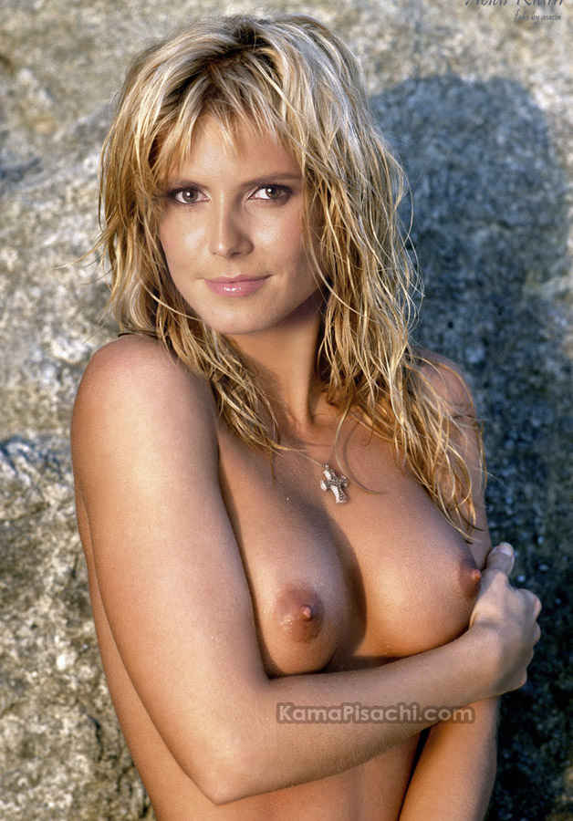 Heidi Klum  nude showing boobs and nipples