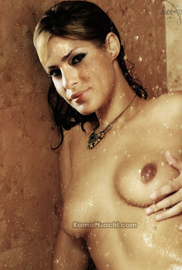 Eva Mendes full nude pressing her boobs