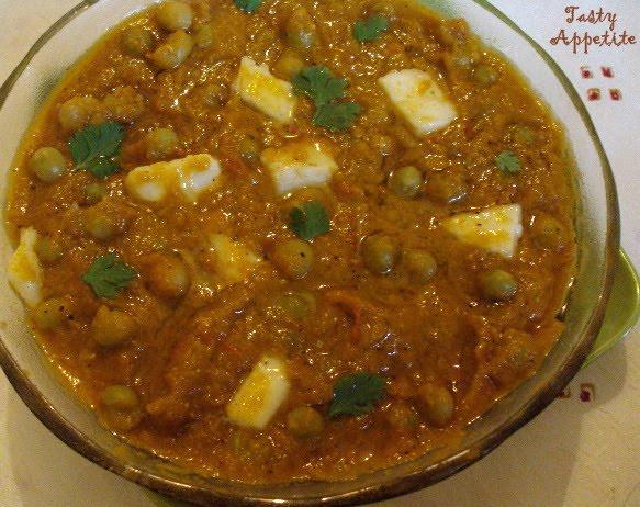 Matar paneer masala paneer peas masala roti side dish recipes forumfinder Choice Image