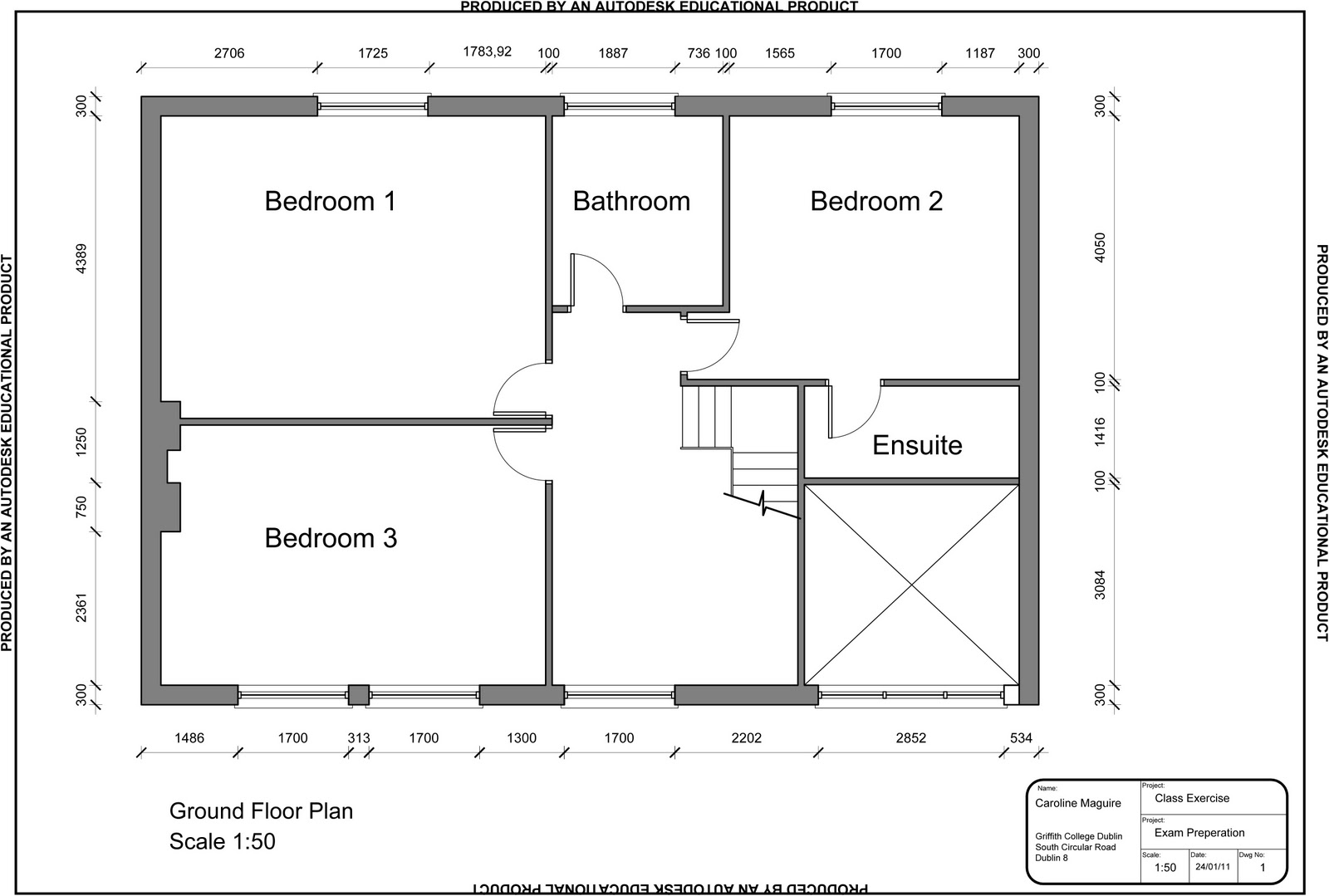 Autocad apartment drawing for Cad house design