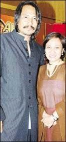 HUSBAND AND WIFE TEAM: Nasir and Marlia.
