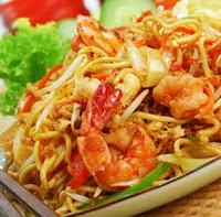 Fried noodles Mie Goreng