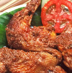 Mixed Spicy Chicken (Ayam Bumbu Rujak)