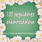 Selinho 100 seguidores da Lena