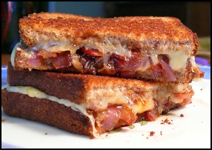 ... Cheese with Caramelized Onion, Applewood Bacon & Swiss Gruyere Cheese