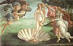 O nascimento de Vênus de Sandro Botticelli (1482)