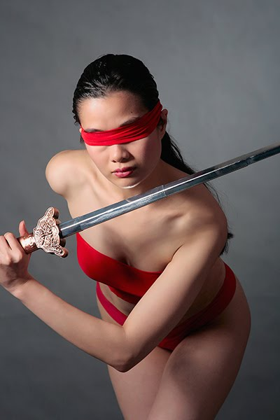 Filipina cosplayer Jerry Polence as Jue from The Animatrix.