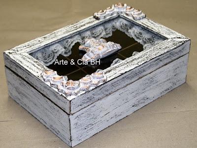 artesanato porta cha pintura madeira mdf